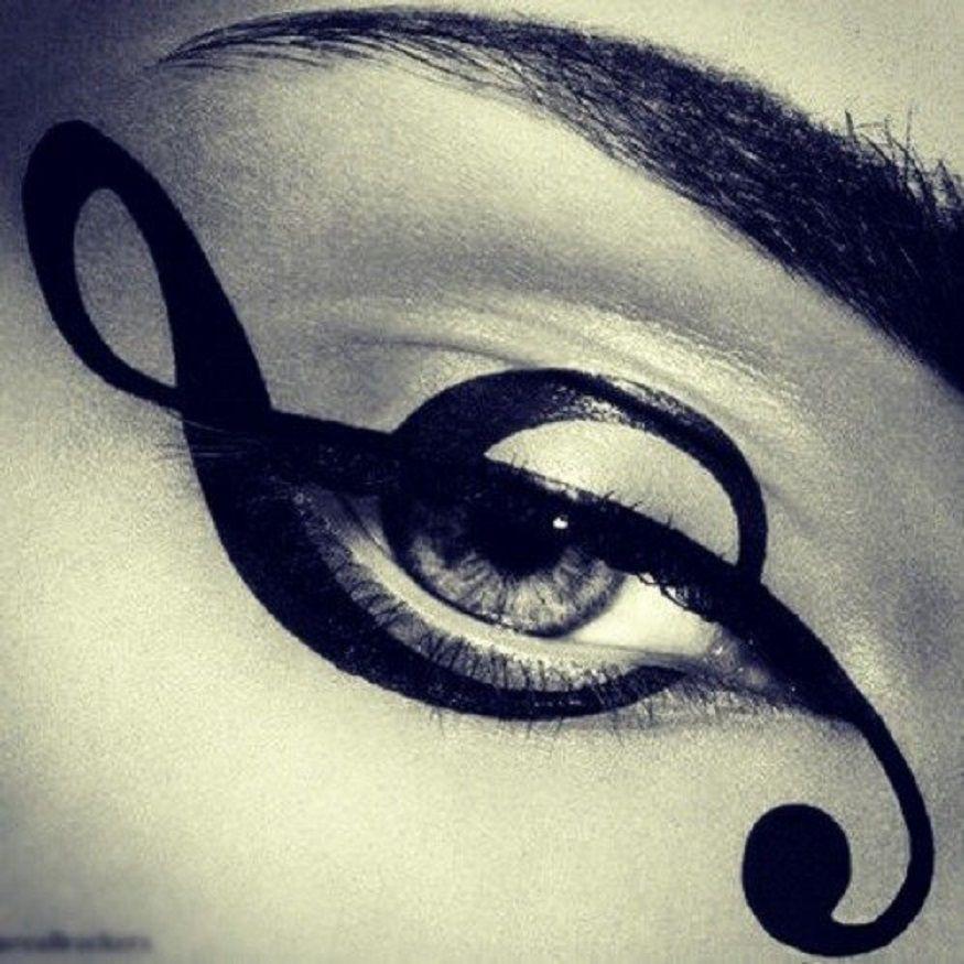 Maquillage, Maquillage Artistique, Maquillage Pour Les Yeux, Eye Liner,  Yeux, Objectifs De Maquillage, Notes De Musique, Photos, Concorde