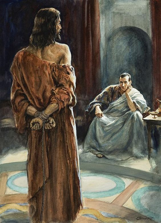 Jesus Devant Ponce Pilate Peinture De Jesus Images Chretiennes Art Catholique