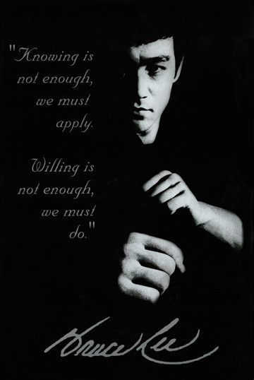 Bruce Lee Knowing Poster With Images Bruce Lee Quotes Martial Arts Quotes Bruce Lee