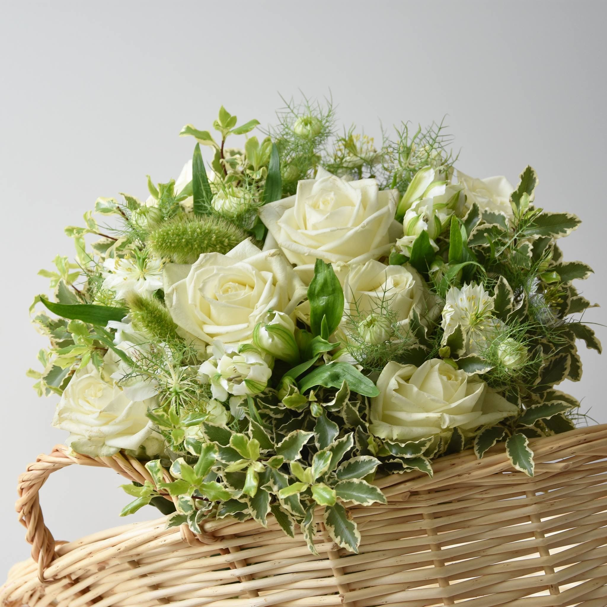 Bouquet Blanc Et Vert Flowerdelivery Bouquetaquarelle