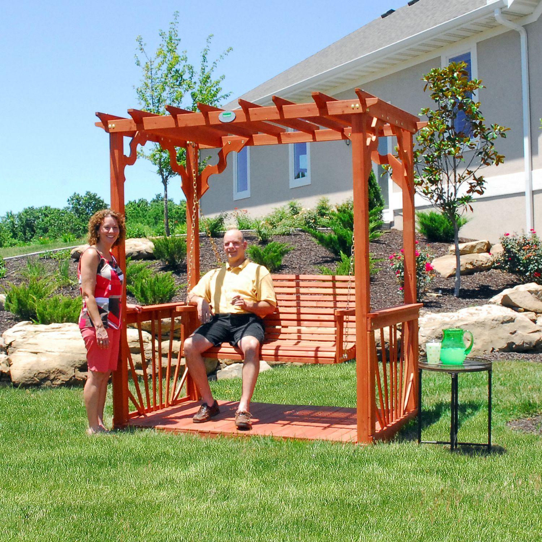 Cedar Pergola Swing - Sam's Club - Cedar Pergola Swing Pergola Swing, Cedar Pergola And Pergolas