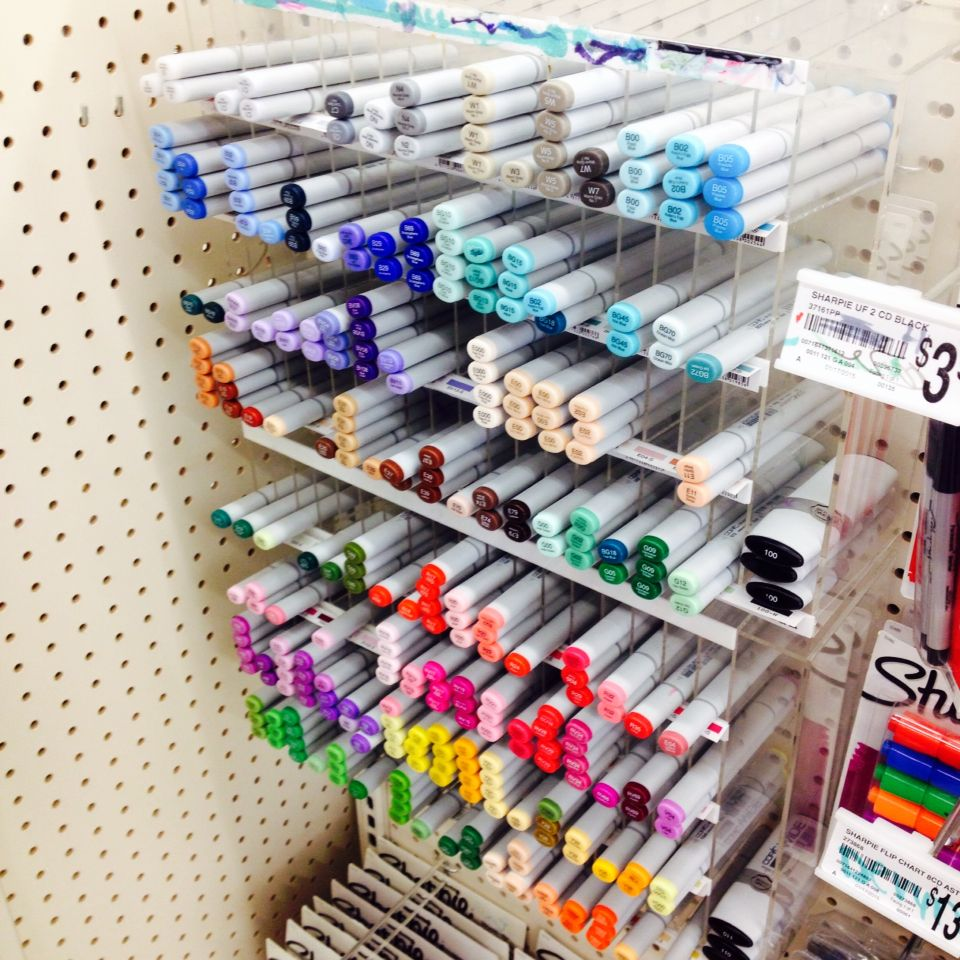 I'm at michaels and at the checkout they have these copics and I