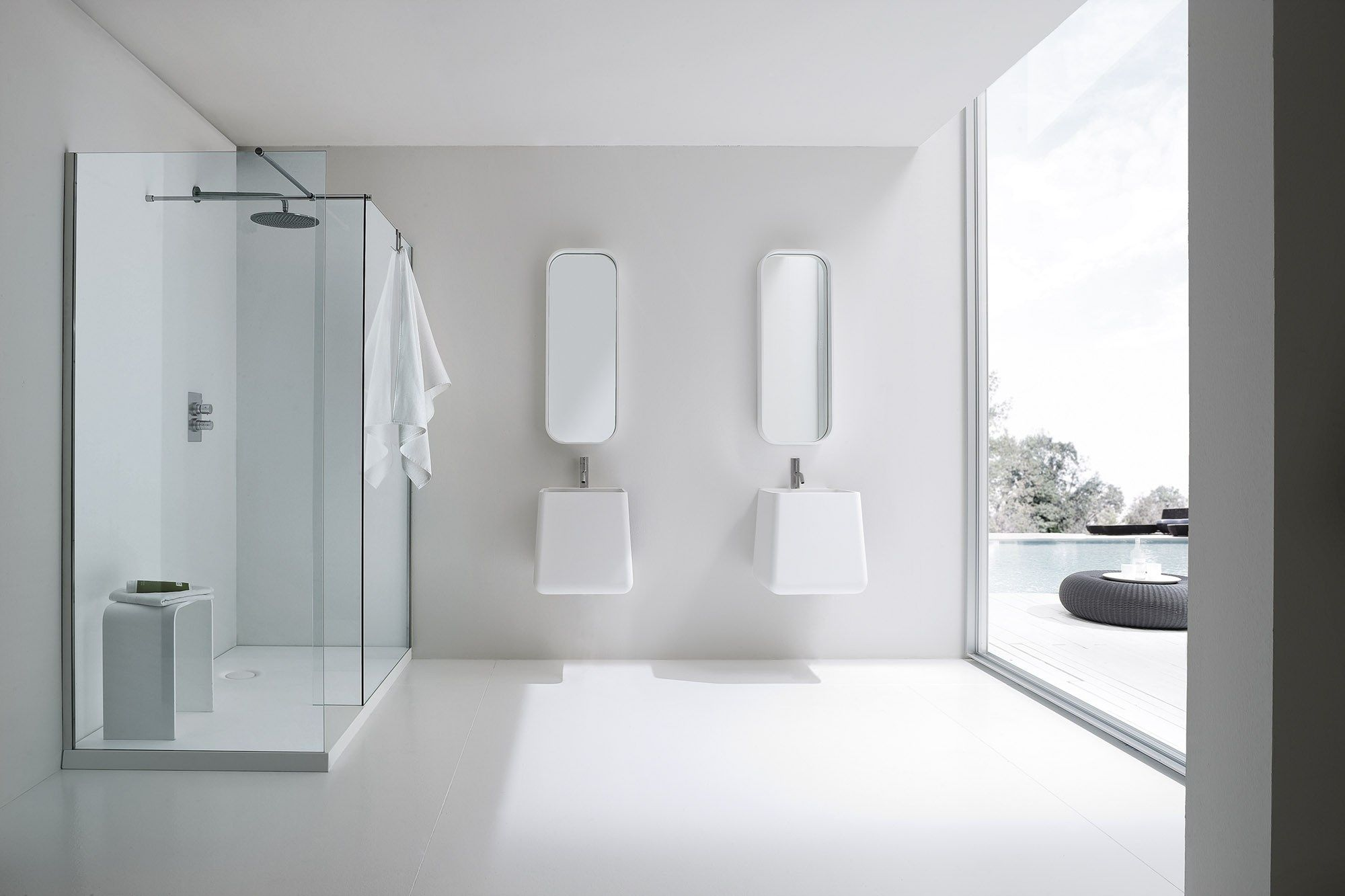 Glass Bagno ~ Modern shower glass panel with simple and elegant touch