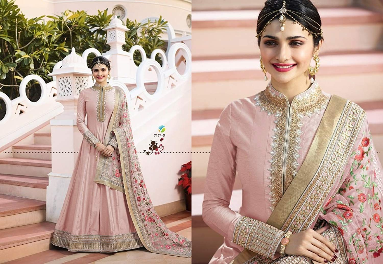 Women s Silk New Arrival Party Wear Peach Wedding Collection Embroided  Unstitched Heavy Anarkali Suit affiliate link 1d07fa328