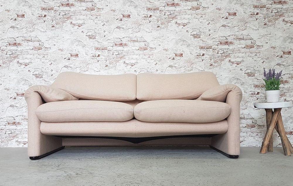 Cassina Maralunga Zweitsitzer Vico Magistretti 2er Sofa Couch 2er Sofa Sofa Sessel Sofa Couch