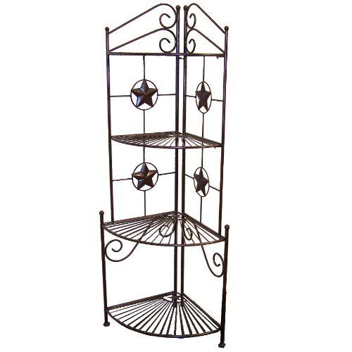 Ll Home Metal Star Corner Shelf By Ll Home 89 55 Western Decor Powder Coated For Rust Resistance Made Of Metal Indoor Outdoor With Images Corner Shelves Metal Stars