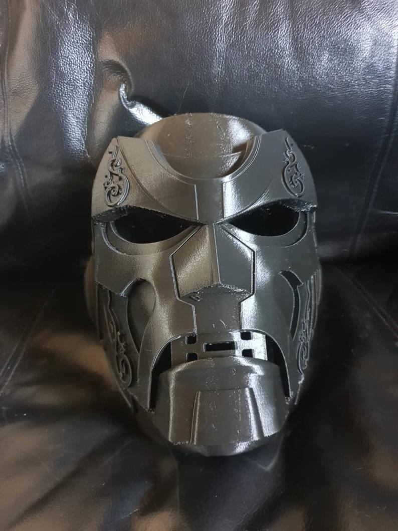 Dr Doom Helmet 3d Printed Version 1 Raw Print Commission Doom Custom Fans Dark Horse Comics