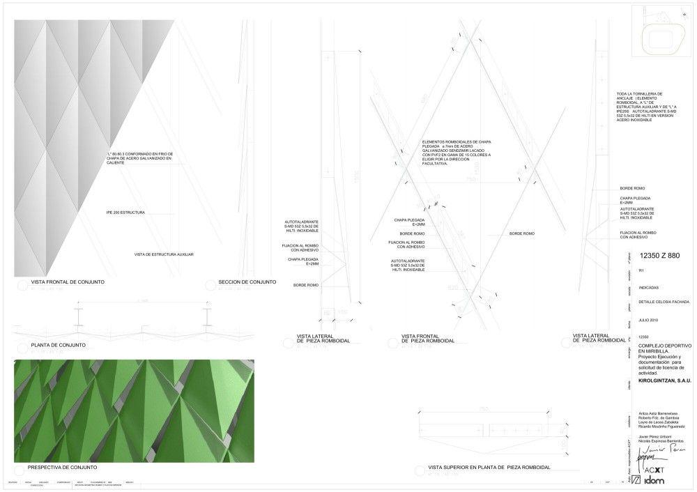 Bilbao Arena / ACXT | Bar chart, Chart, Line chart