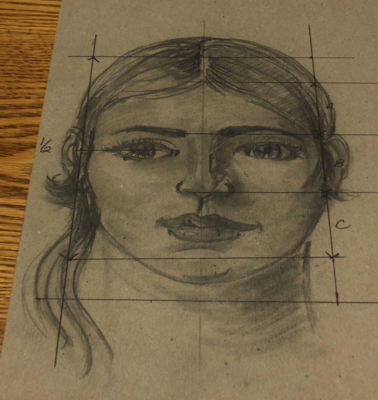 figure study ~Standard pencil on cardboard