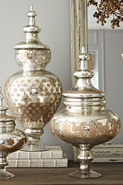 Bastia Apothecary Jar - Vintage Inspired Glass Jars, Mercury Glass ...