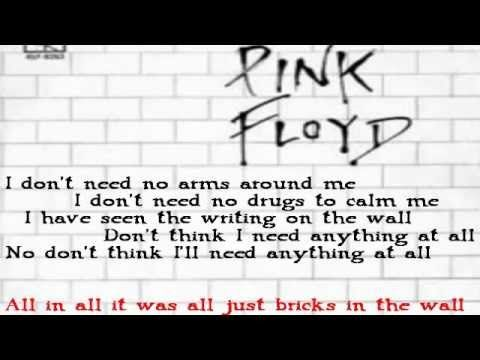 Pink Floyd Another Brick In The Wall All Parts Best Audio Youtube Pink Floyd Lyrics Great Song Lyrics Pink Floyd