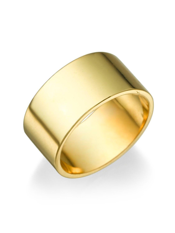 New to shireeodiz on Etsy: 14K Yellow Gold Ring Size 9 Classic Style Wedding Band Plain 9.4mm Gold Band Unisex (615.00 USD)