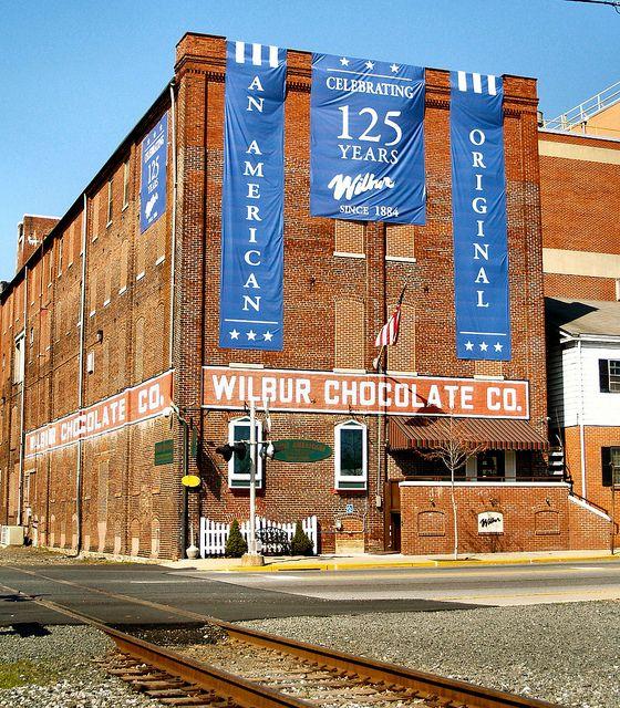 Wilbur Chocolate Factory Pennsylvania dutch country, Day