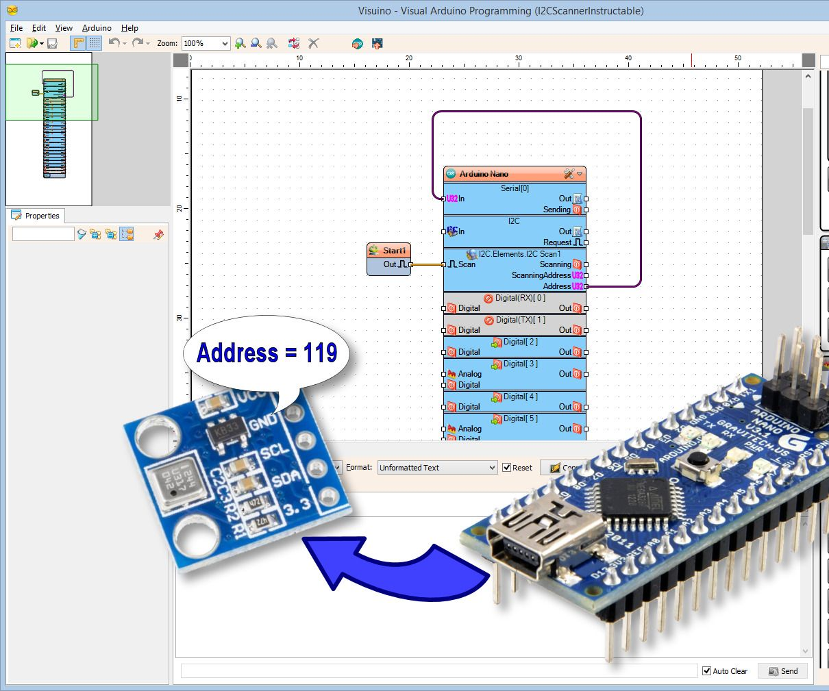 Scan The Arduino I2c Bus For Connected Devices With Visuino Toggle On Off Switch Electronicslab And My 55th Instructable Is Finally Available Detailed Step By Instructions How To Connect Device Nano Program It