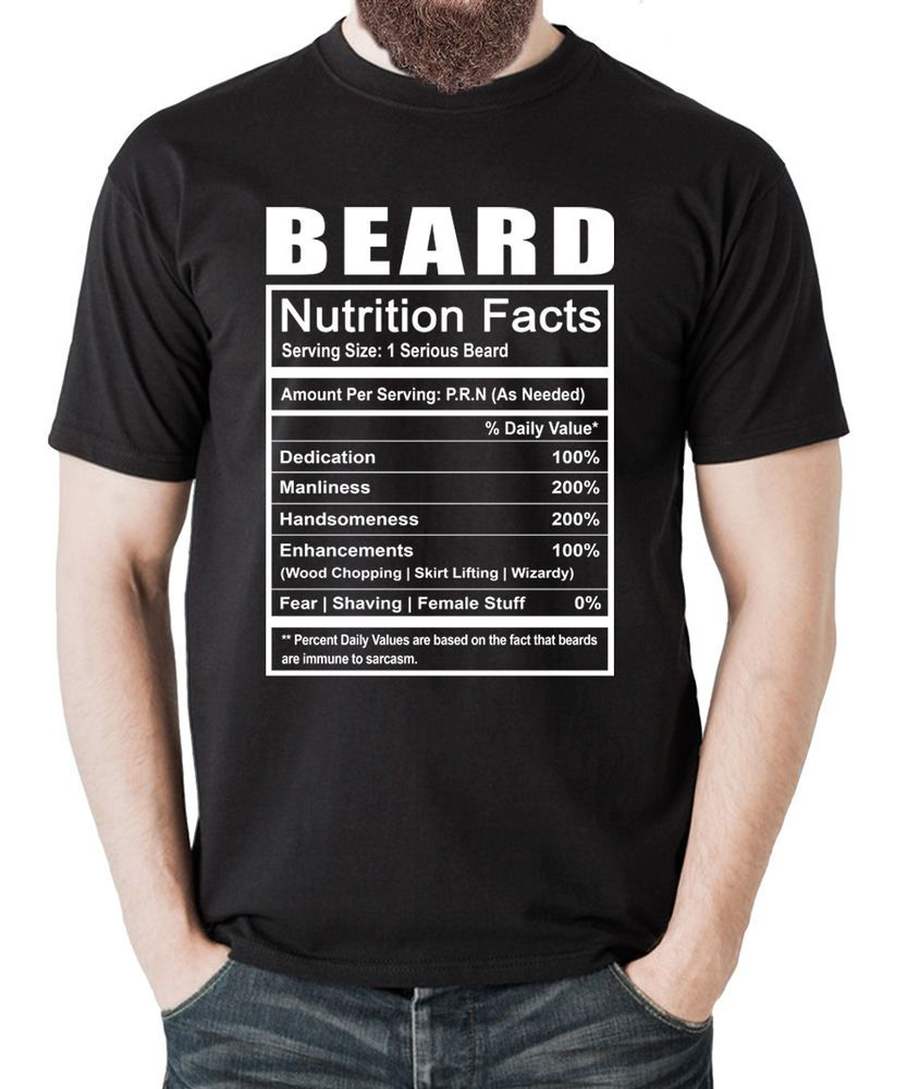 9f0f249b Beard Nutrition Facts T-shirt Best Funny Novelty Gift for Husband Dad  Grandpa #HappyHomeShop #MenUnisexTshirt #beard