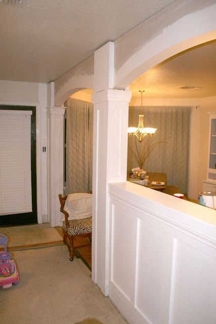 Build In Arches And Columns Huge Impact On The Room Room Divider Walls Installing