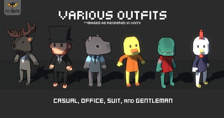 1000 Character Pack Sponsored 3d Character Characters Pack Low