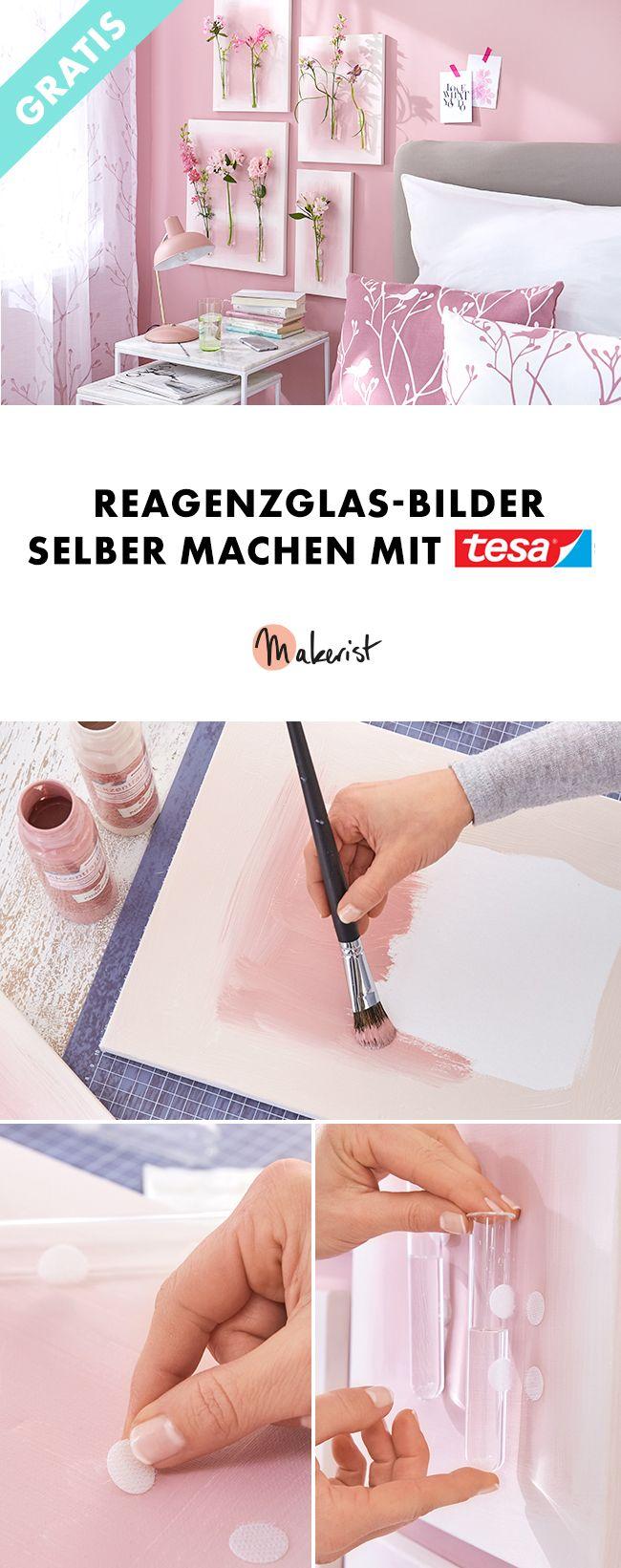 Kreativ mit tesa®: Reagenzglas-Bilder selber machen! – Makerist Magazin