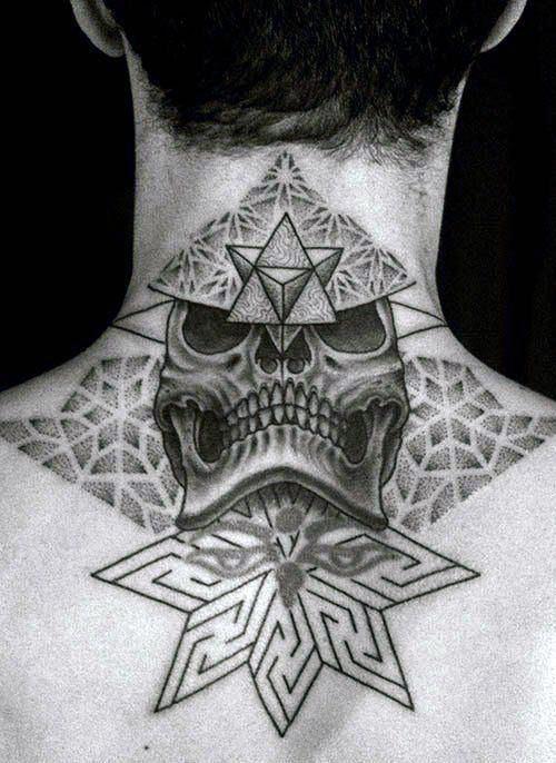 9537bdd5a Top 40 Best Neck Tattoos For Men - Manly Designs And Ideas | tattoos ...