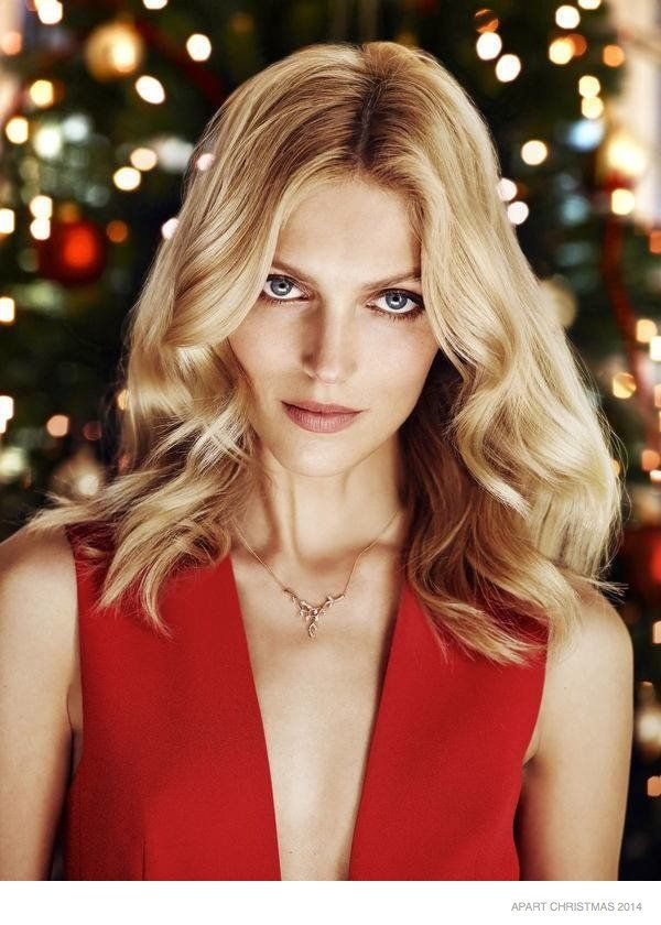 A Husband For Christmas.Anja Rubik Gets Romantic In Apart Christmas 2014 Ads With