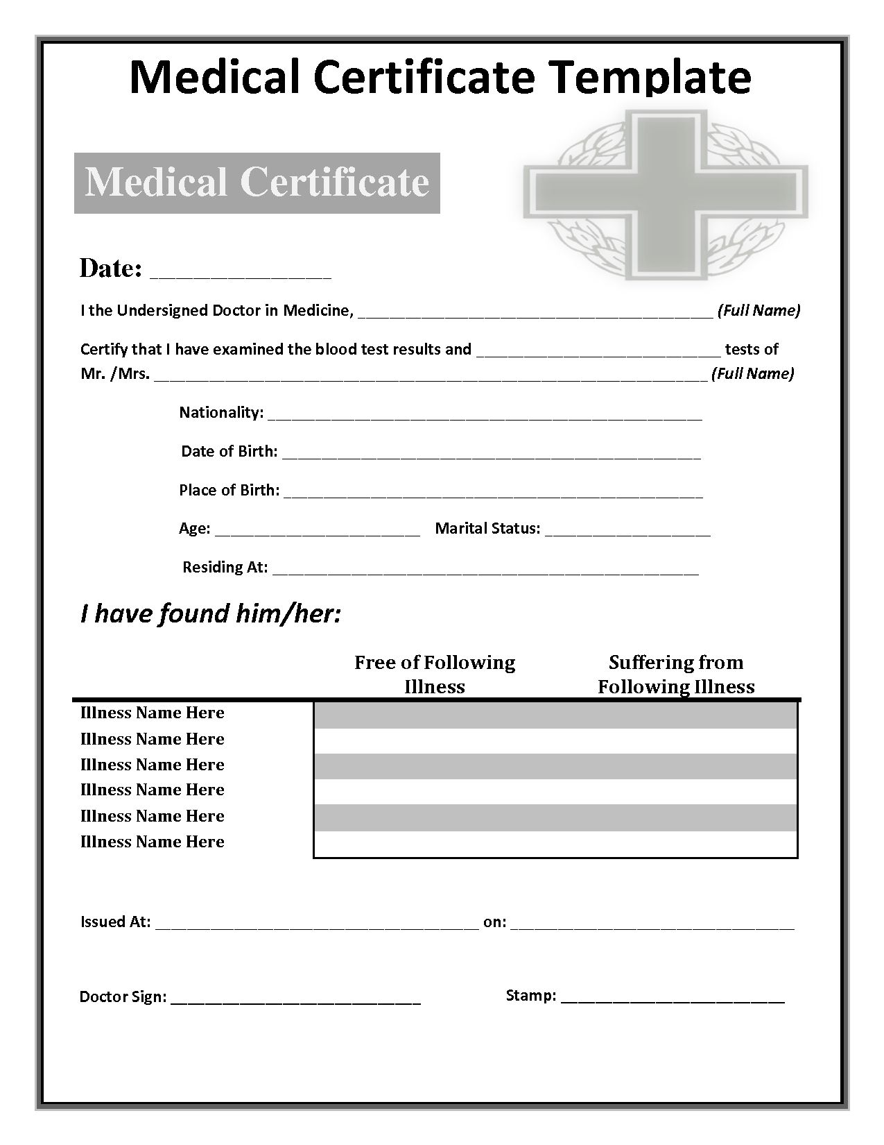 034 Free Doctors Note Template Australia Fake 142285 in
