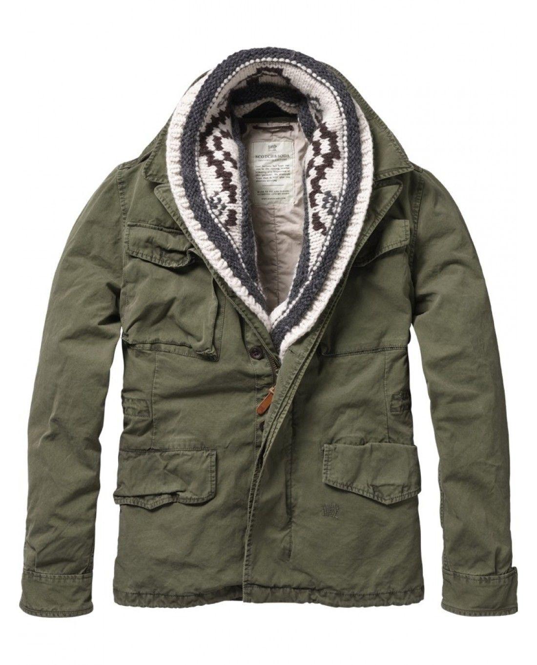 midlength military jacket jackets scotch soda online. Black Bedroom Furniture Sets. Home Design Ideas