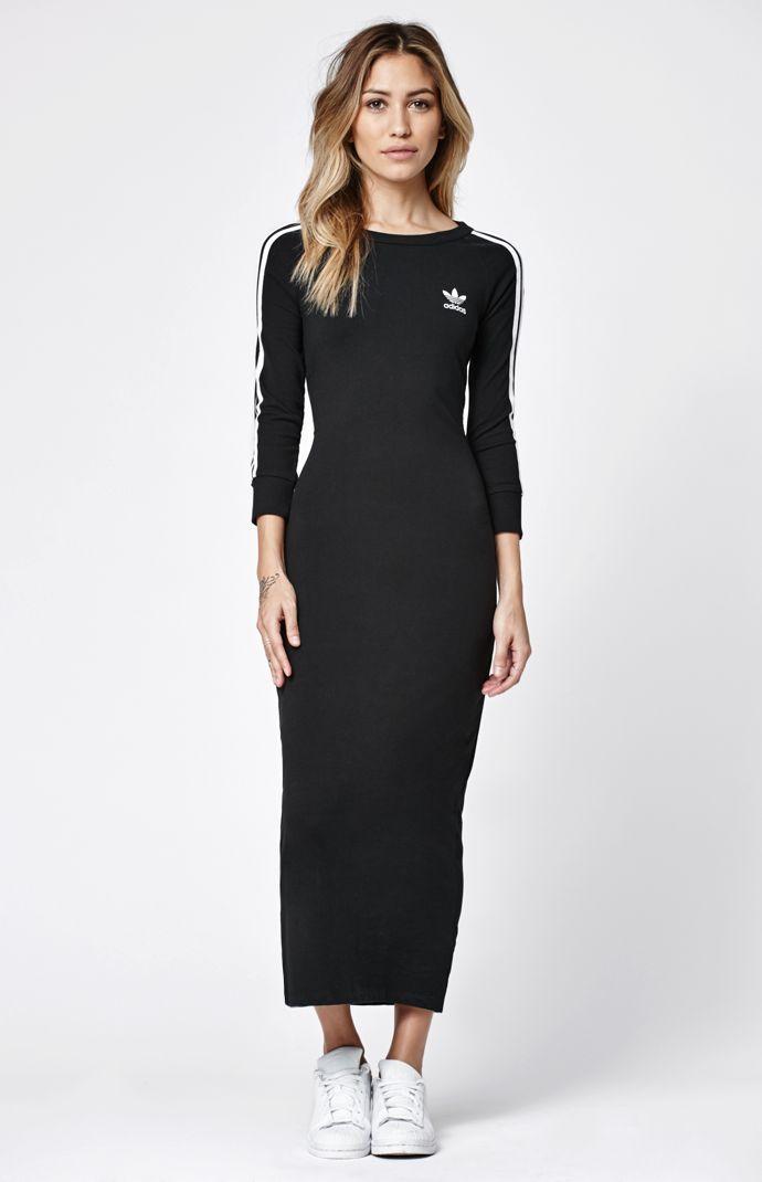 3 Stripes Bodycon Maxi Dress Ropa Adidas Vestidos