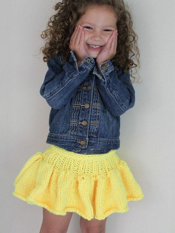 Skirt Pattern Girl\'s Tutu Skirt knitting pattern baby | K1 DC2 ...
