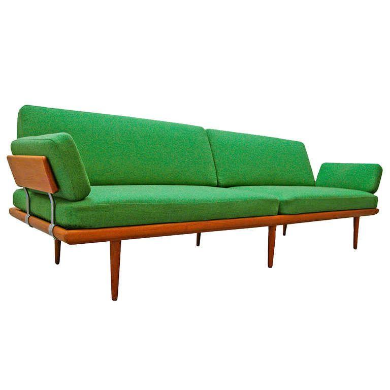 Sofa By Peter Hvidt Orla Molgaard Nielsen Minerva Teak 60 S Danish Modern From A Unique Collecti Modern Classic Furniture Danish Modern Furniture