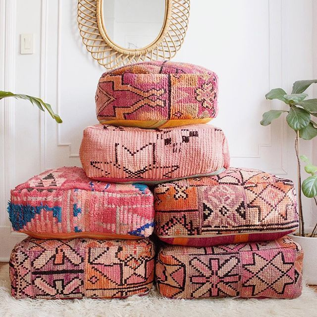 Moroccan poufs from The Reserve     a loving home     Pinterest ...