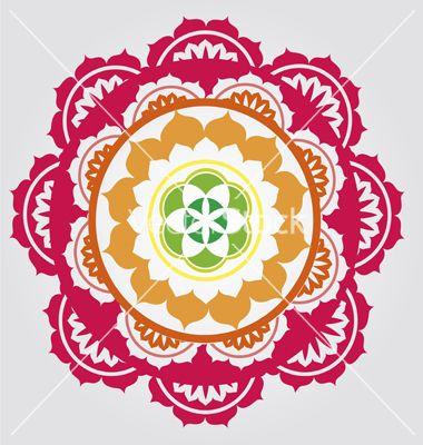 Lotus paradise mandala vector | Art Journal Stencils | Pinterest