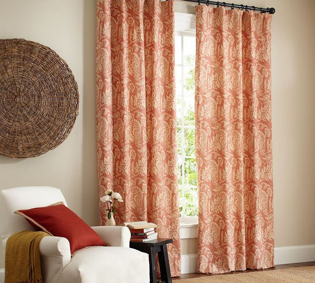 Alessandra Floral Drape Pottery Barn Love These In Our Living And Dining Rooms