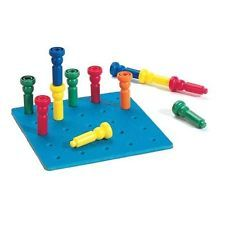 Lauri 50 Tall Stackers & Peg Board Fine Motor Skills Occupational Therapy Autism