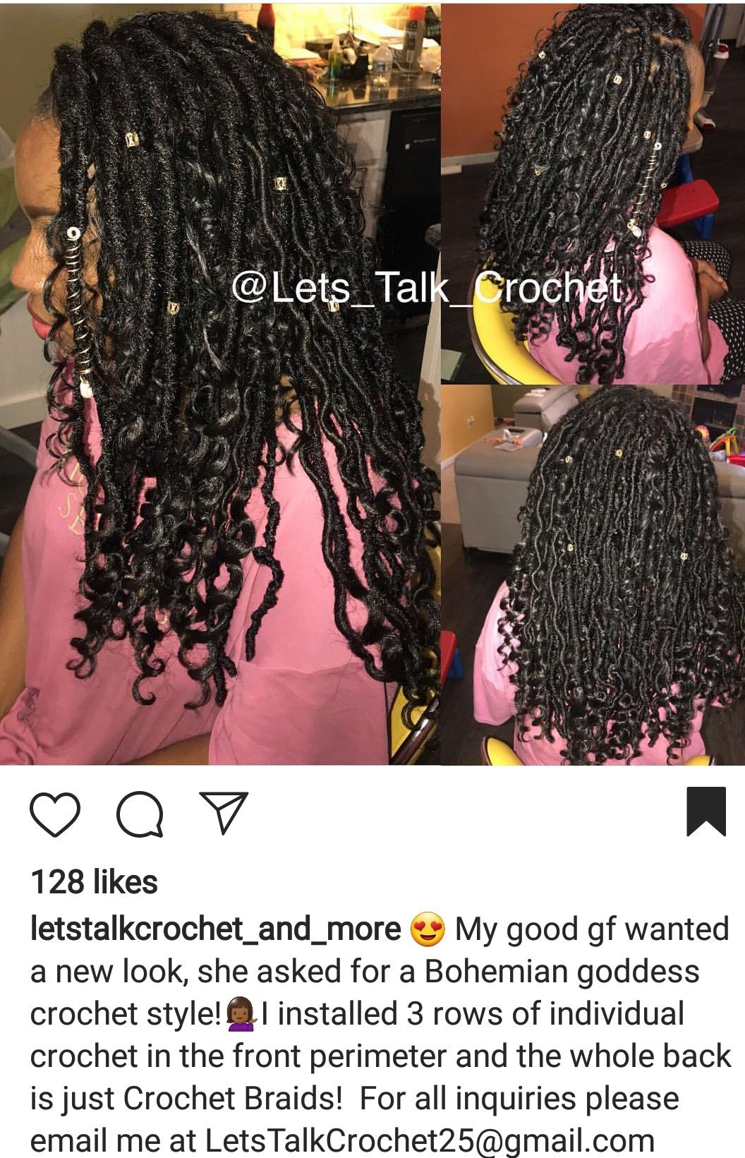 Crochet Faux Locs In The Middle With Individuals Around The
