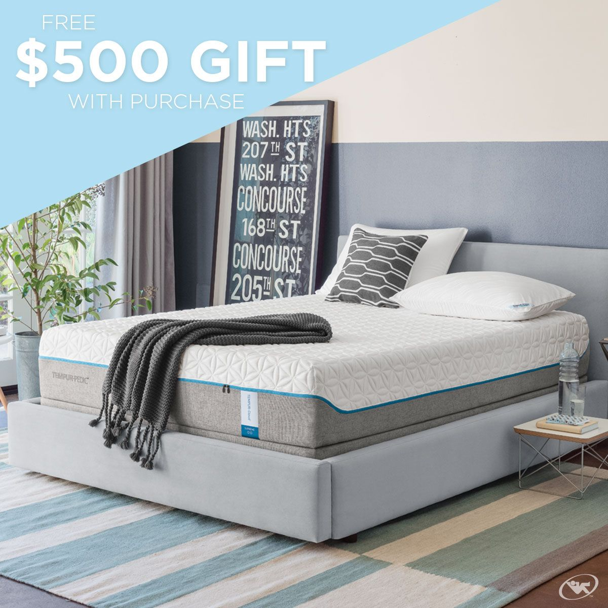 sleep with ease and receive a free 500 gift when you purchase a