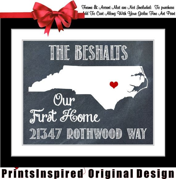 Personalised Home Is Where New Home Gift Print By: Housewarming Gift Personalized State Map Print: Quote