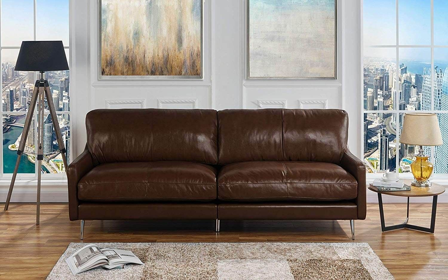 Embrace Your Home With Best Leather Sofa Brands Living Room
