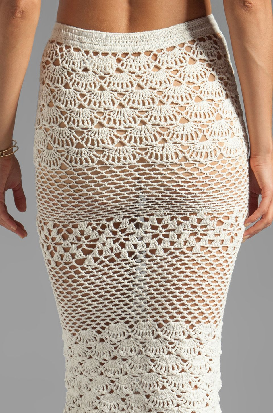 Spell & The Gypsy Collective Coconut Crochet Skirt em Branco | REVOLVE