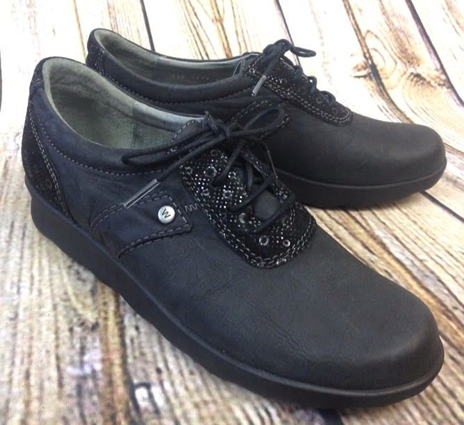 0e8437ec905 New Wolky Womens 40   9 Nido Black Nubuck Leather Walking Shoes Oxford Lace  Up  Wolky  Oxfords  WalkingHiking
