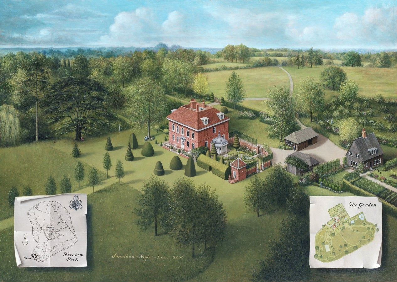 House And Garden Paintings By Jonathan Myles Lea