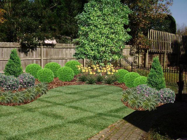 Corner Fence Idea Landscaping