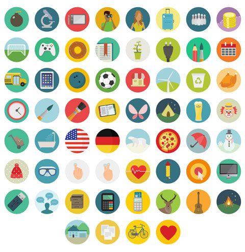 Un Pack De 60 Icones Flat Design Png Svg Eps Psd Et Ai Ensembles D Icones Icone Gratuit Icone