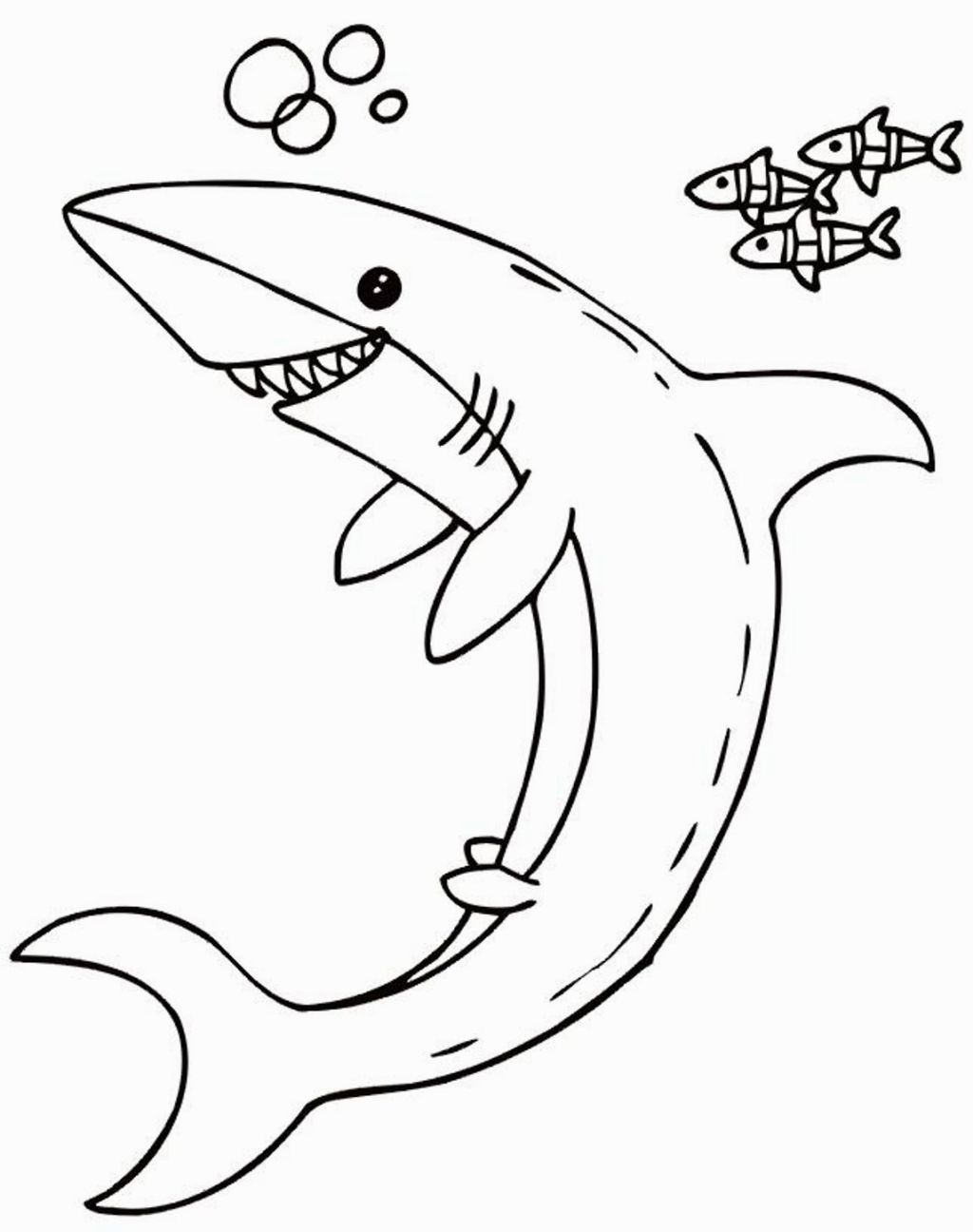 Shark Coloring Pages To Print Shark coloring pages