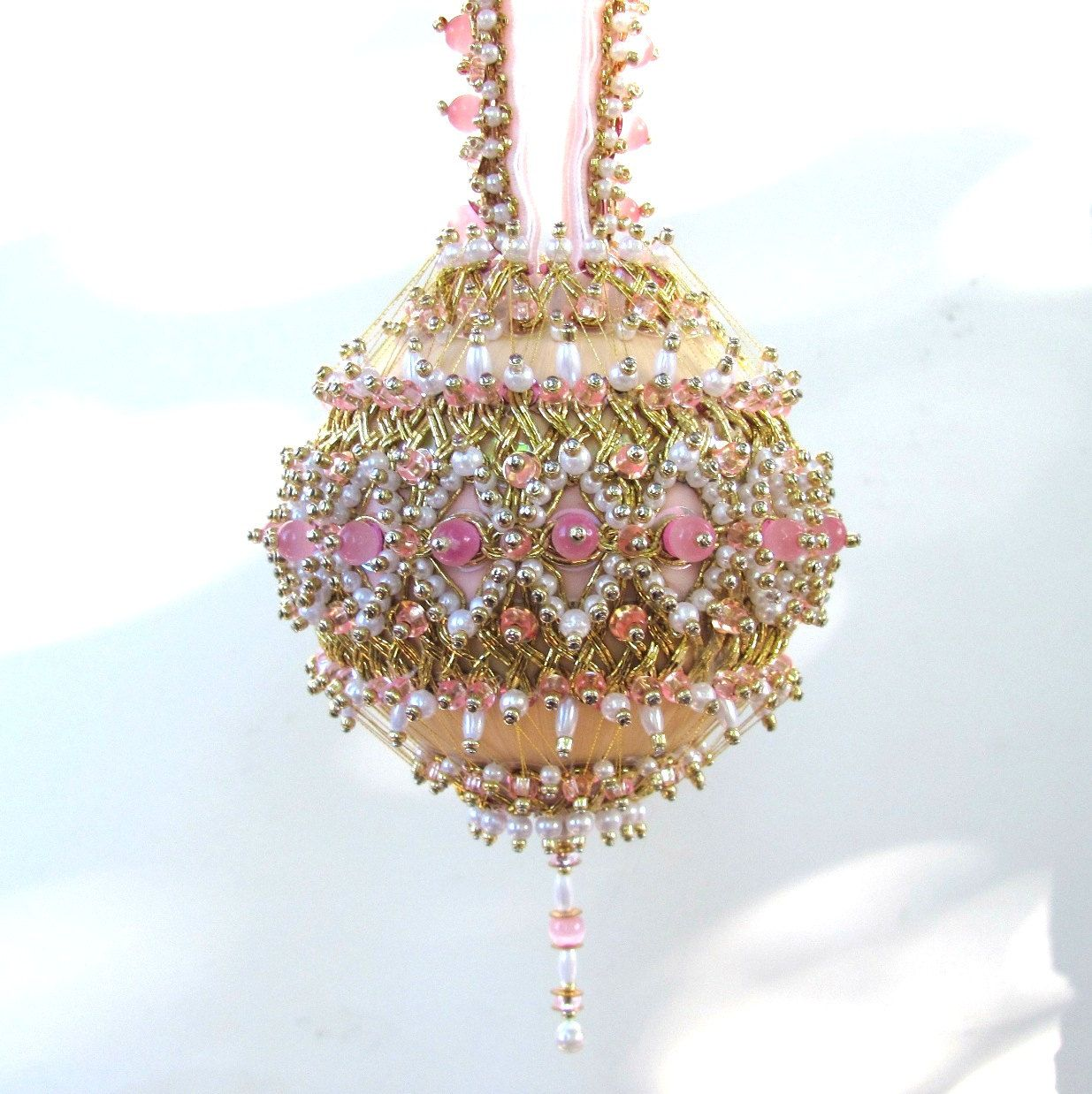 Handmade christmas ornaments on etsy - Beaded Christmas Ornament Kit Elizabeth 41 50 Via Etsy