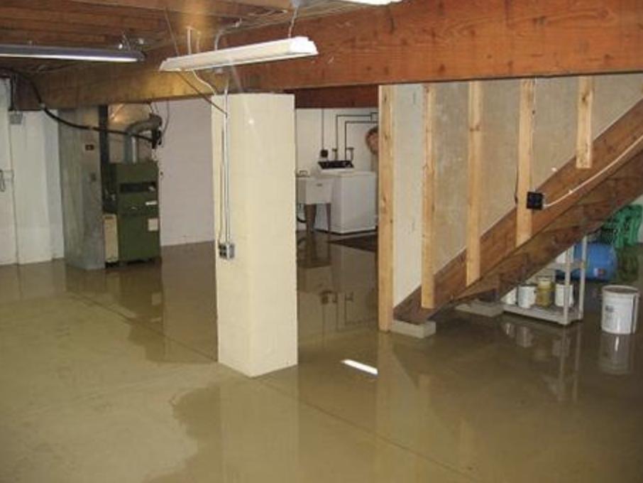 Rain + high water tables = basement flooding. Summit is