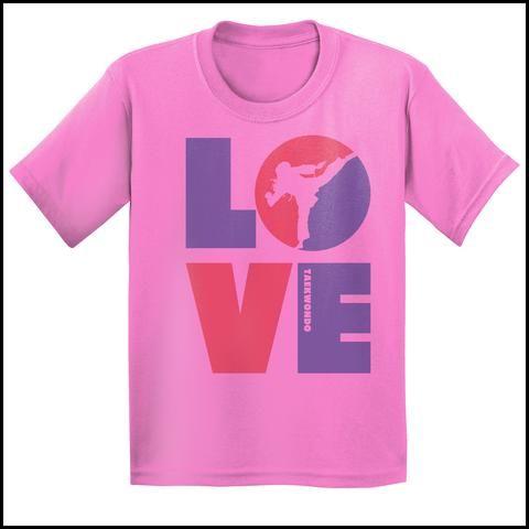 TKD LOVE - Taekwondo T-Shirt - TAEKWONDO LOVE! - YGSS-411 - Rhino Junction Apparel - 2