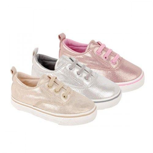 Zapatillas metalizadas para niñas de Bubble Bobble