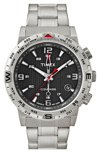 e1a7bdc0a6cb Timex®  Intelligent Quartz - Adventure Compass  Bracelet Watch