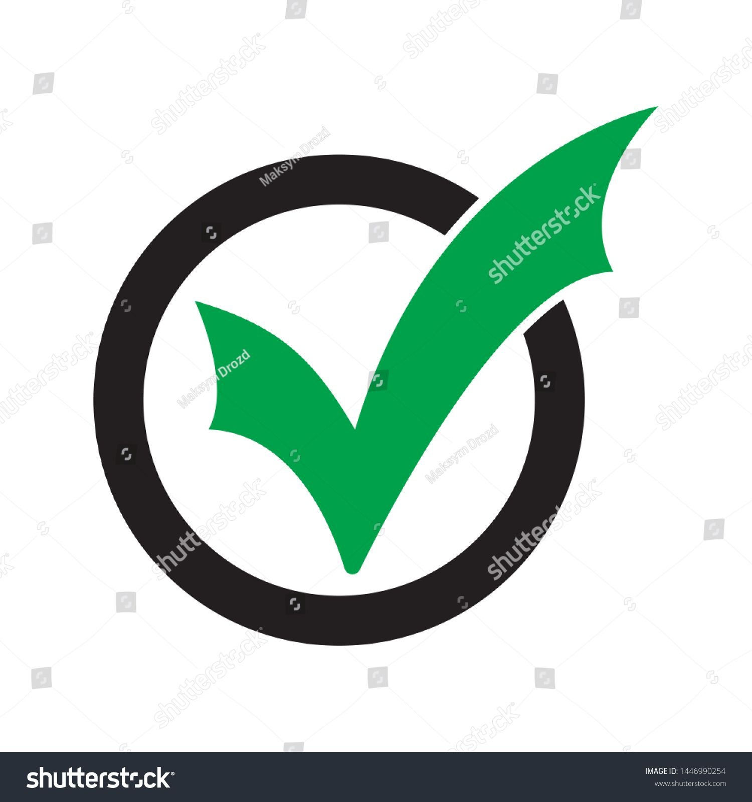 Tick Icon Vector Symbol Checkmark Isolated On White Background Checked Icon Or Correct Choice Sign Check Mark Or Checkbo In 2020 Symbols Graphic Illustration Vector