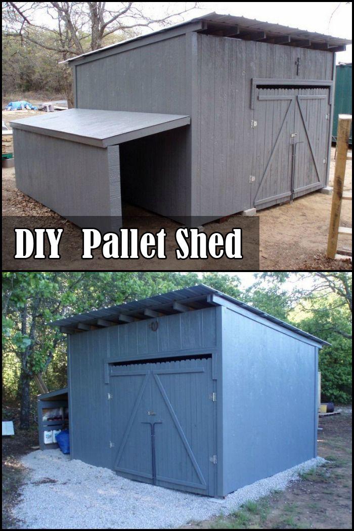 Diy Pallet Shed Diy In 2019 Pallet Shed Diy Shed